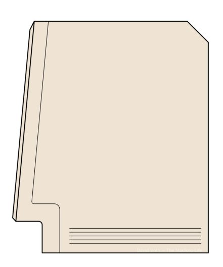 Illustration of a Macintosh Plus (side view)